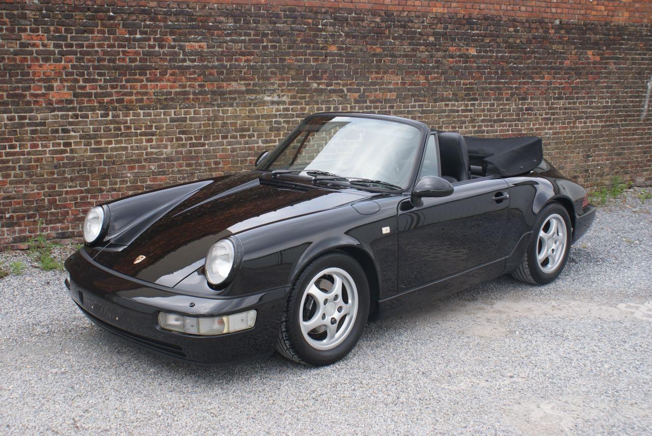 911 youngtimer - Porsche 964 Carrera 4 cabriolet - black - 1992 - 2 of 13