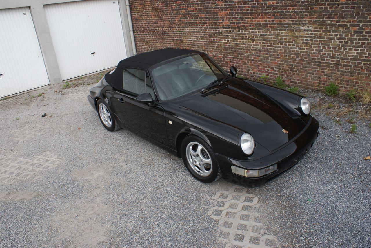 911 youngtimer - Porsche 964 Carrera 4 cabriolet - black - 1992 - 7 of 13